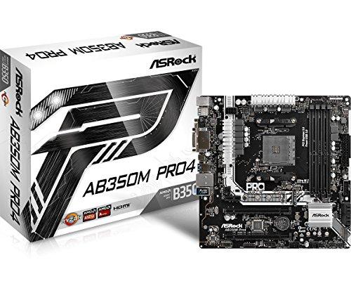 ASRock AB350M PRO4 MicroATX Motherboard ()