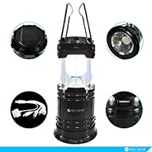 3-in-1 Solar Charger Lantern - Charge your Apple and Android Gadgets With the 5-in-1 USB Solar Phone Charger – Survival Solar Light by Strand (BLACK)