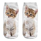 kingfansion Cute Casual Cotton Socks 3D Print Socks Cartoon Socks Sports Socks Stealth Socks Cylinder Socks (C)