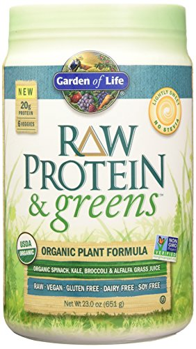 Garden of Life Raw Protein and Greens, Lightly Sweet No Stevia, 656 Gram