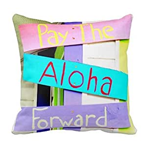 Throw Pillow With The Word Home On It : Amazon.com: KarilShop Beach Sign Word Linen Throw Pillow Case Cushion Cover Home Sofa Decorative ...