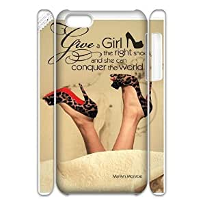 diy 3D Case Cover for Iphone 5C - Marilyn Monroe Quotes case 3