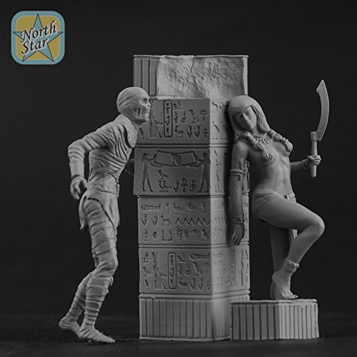NorthStarModels 54 mm Beneath the Pyramid mini diorama - Ancient Egypt Girl vs Mummy