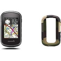 Garmin - eTrex Touch 35 - GPS de randonnée - Compas électronique 3 Axes et écran Tactile - Cartes TopoActive Europe de l'Ouest Préchargées - Noir + Bumper de Protection - Silicone - Kaki