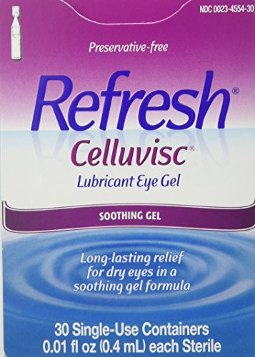 - REFRESH CELLUVISC Lubricant Eye Gel Single-Use Containers 30 ea (Pack of 2)
