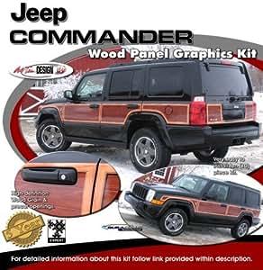 Jeep Commander Wood Panel Graphics Kit 1 Automotive