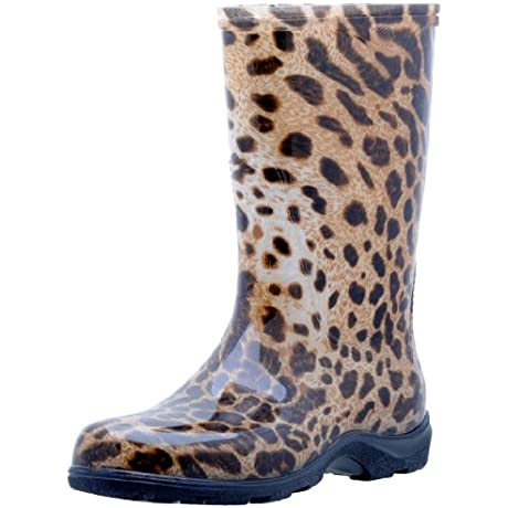 Sloggers Women S Rain And Garden Boot With All Day Comfort Insole Leopard Print Wo S Size 9 Style 5006LE09