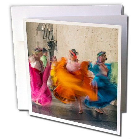 3dRose Danita Delimont - Oaxaca - Mexico, Oaxaca, Mexican Folk Dance 01 - 12 Greeting Cards with envelopes (Dances And Costumes Of Mexico)