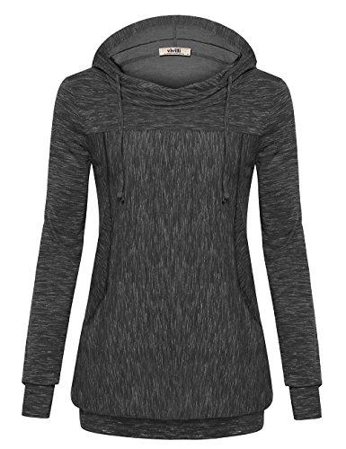 Vivilli Womens Lightweight Pullover Hoodie Long Sleeve Hooded Sweatshirt