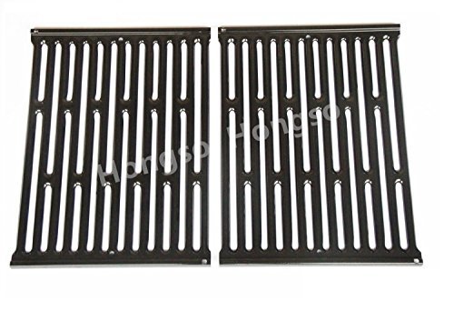 Hongso PCG523 NEW Porcelain Enameled Grates BBQ Replacement for Weber Genesis Silver A and Spirit 500 gas grills, for Weber 7523; aftermarket replacements by Hongso