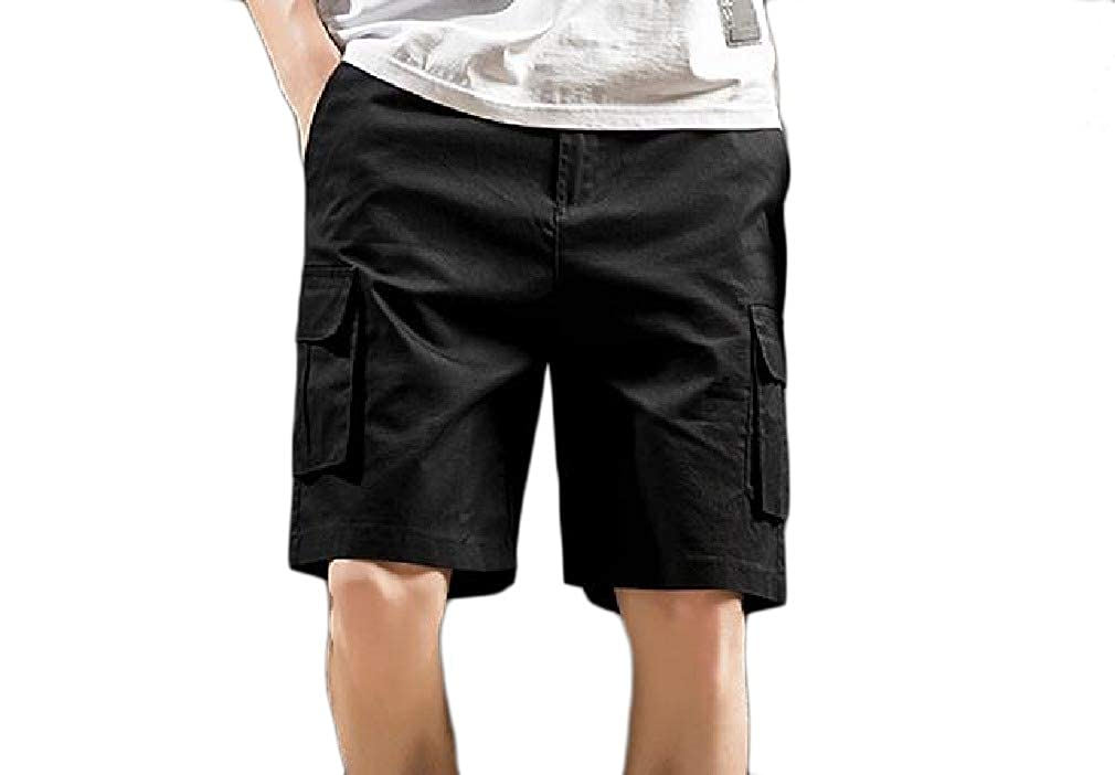 Whitive Mens Active Cotton Straight-Fit Classic-Fit Cargo Work Pants
