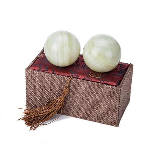 light green afghanistan jade baoding citrine chinese health stress exercise balls