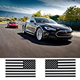 2PCS Car Sticker Decal US American Subdued Flag for