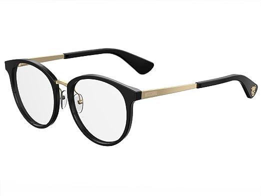 6fff5ed0df92e4 Moschino - Monture de lunettes - Femme Noir noir 52  Amazon.fr ...