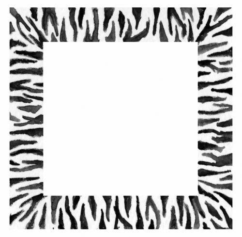 Janlynn Stamps Happen Rubber Stamp, Zebra Frame