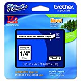 "easy garden ideas and designs Brother Genuine P-touch TZE-211 Label Tape 1, 1/4"" (0.23"") Standard Laminated P-touch Tape, Black on White, Laminated for Indoor or Outdoor Use, Water Resistant, 26.2 Feet (8M), Single-Pack"