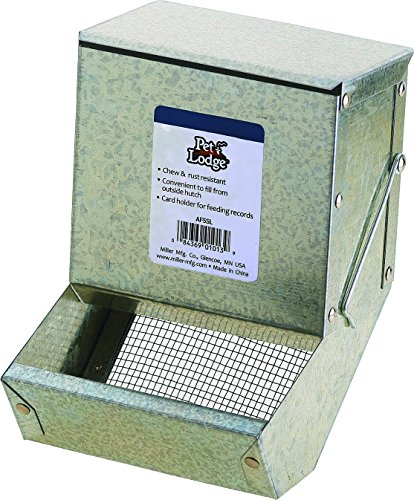 Little Giant5 inch Galvanized Rabbit Feeder AF5SL