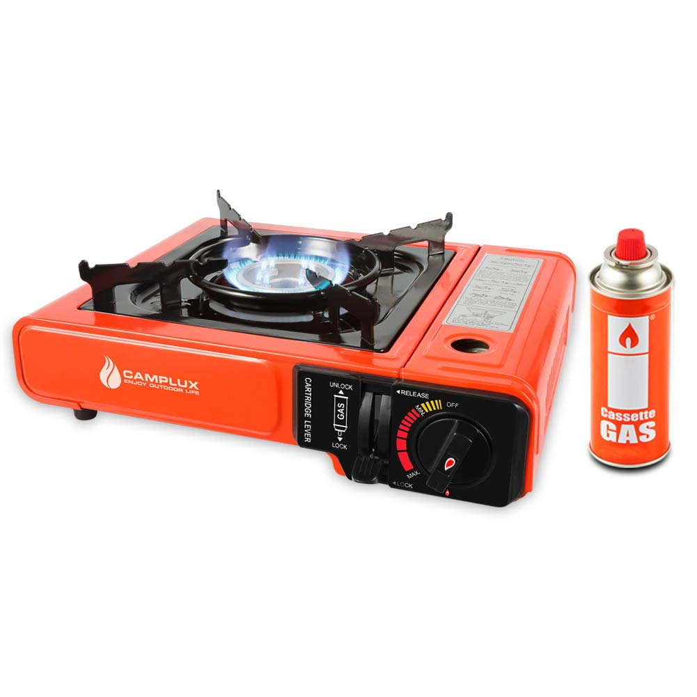 Camplux JK-8610 Portable Butane Stove, 8,000 BTU Camping Backpacking Outdoor Gas Stove Burner with Carrying Case, CSA Listed by CAMPLUX ENJOY OUTDOOR LIFE