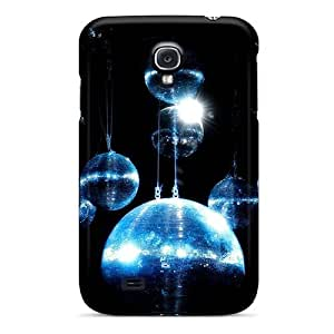 Cynthaskey Premium Protective Hard Case For Galaxy S4- Nice Design - Blue Disco Ball