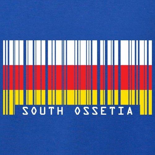 South Ossetia / Südossetien Barcode Flagge - Herren T-Shirt - Royalblau - XXXL