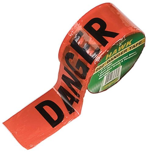 Stalwart 75-7372 Hawk 1000-Ft Danger Safety Tape, 3-Inch Width