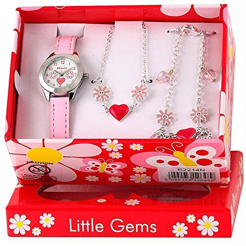 Ravel Little Gems Kids Flower Watch & Jewellery Gift Set For Girls R2214 from Ravel