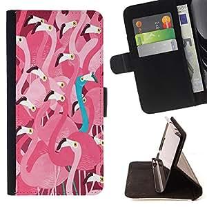 Dragon Case- Caja de la carpeta del caso en folio de cuero del tir¨®n de la cubierta protectora Shell FOR Sony Xperia Z1 C6902 C6903 C6906- Swan Cute