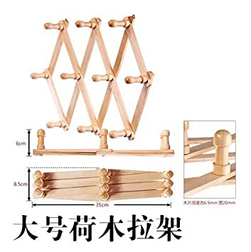 Furonghuang Holz Kleiderbügel Kleidung Aufhängen Haken Holz Rahmen