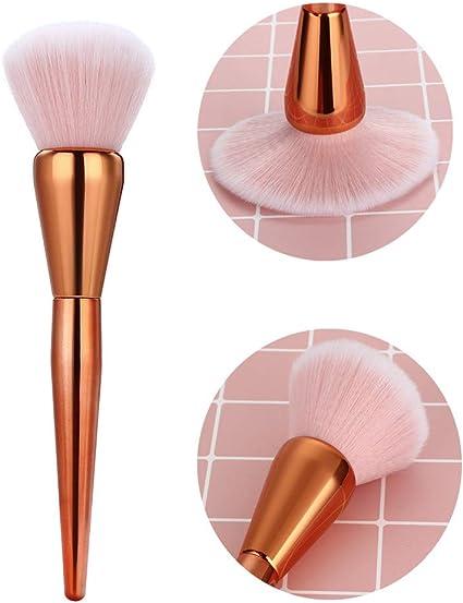 Daysing - 1 juego de pinceles de maquillaje, brocha de maquillaje, brocha para colorete, brocha para cejas, brocha para polvos, brocha para sombra de ojos: Amazon.es: Belleza