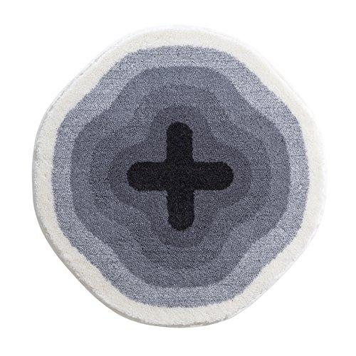Mohawk Mills (Grund Designer Series Accent/Bath Rug, Karim Rashid, 36-Inch by 36-Inch, Gray)