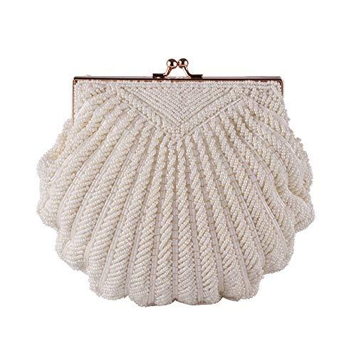 Bolso De Huimin La Mujeres Moldeado Mano A Moda B Embrague Shell Tarde color Las Hecho FHwqdSx4w5