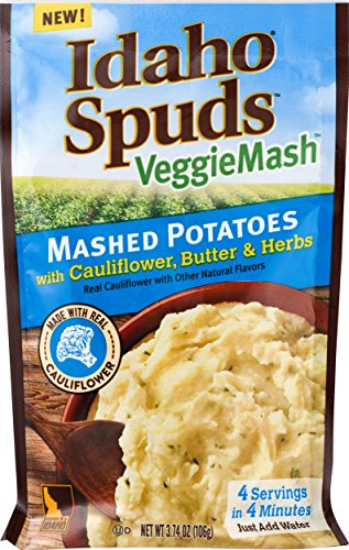 Idaho Spuds Veggie Mash, Cauliflower Butter & Herb Mashed Potatoes, 10 Count