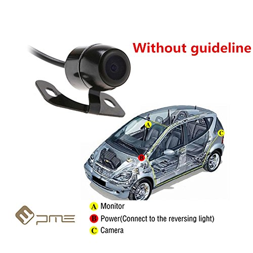 PME 170° Wide Angle Car Rear View Backup Camera Mini Butterfly Style Waterproof for Car Monitor (Without Guide Line Version) - 10 Mini Rear View Camera