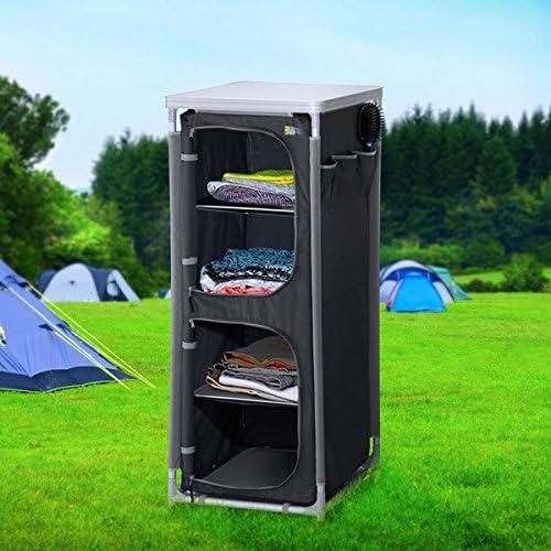 Premium camping plástico Armario plegable con 4 ...