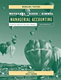 Managerial Accounting : Tools for Business Decision Making, Weygandt, Jerry J. and Kieso, Donald E., 0471416487