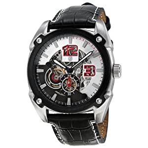 Brooklyn Watch Co. Automatic Skeleton Dial Stainless Steel Mens Watch 13381B