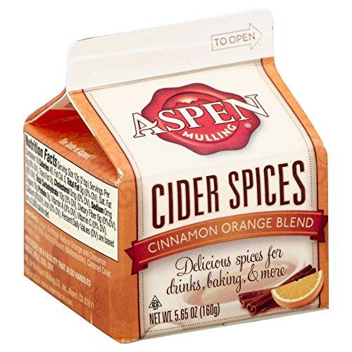 Aspen Mulling Cider Spices, Cinnamon Orange Blend, 5.65-Ounce Carton (Pack of 9)