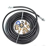 Pressure Parts 8102.1671.00 Sewer Line and Drain Jetter Kit, 1/4'' x 50' Hose with Sewer Nozzle & Adapters
