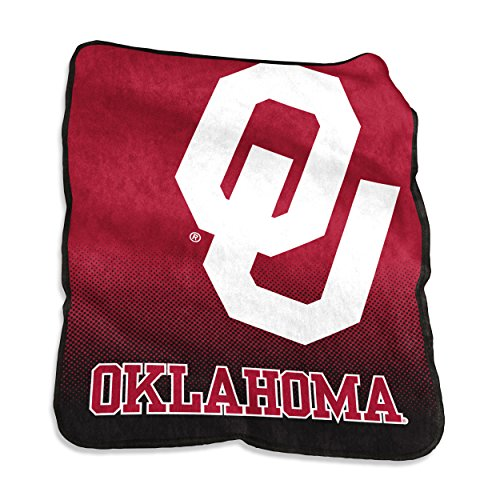 Logo Brands NCAA Oklahoma Sooners Raschel Throw, One Size, - Oklahoma Sooners Logos