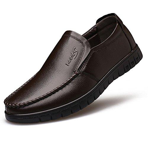 los Hombres Ocasionales Transpirable Zapato de de la Plano Primavera de Suave Marron Amarillo TOOGOO conduccion Zapatos Cuero Cuero Mocasin de 38 Masculinos Genuino de 2018 Mocasines wYfnF8X