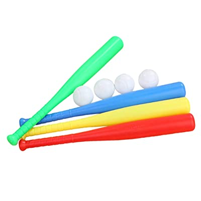 BESPORTBLE Sports Baseball Bat Toy Set Plastic Baseball Stick Baseball Bat with Baseball for Outdoor Indoor Exercise: Sports & Outdoors