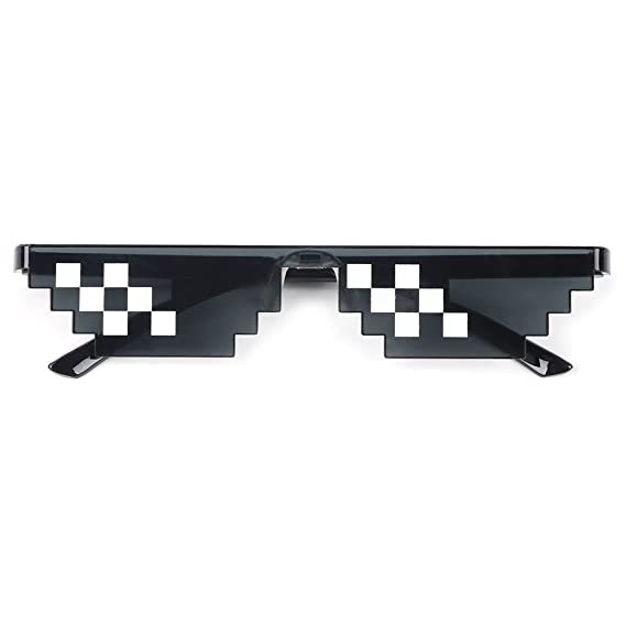 Junlinto, Thug Life Glasses Deal with It Gafas Pixel Mujer ...