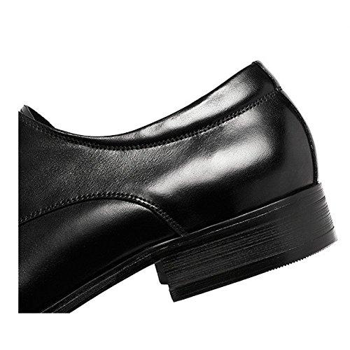 Redwine Traspirante Lavorato Inghilterra Indossabile Scarpe da YIWANGO Scarpe Maschi di Affari Stringate Cuoio Pizzo Uomo Rxw67