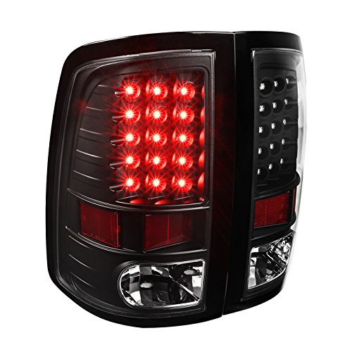 Full Black Dodge Ram 1500 2500 3500 LED Tail Lights Park Brake Lamps Left+Right