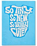 American Greetings So Tiny New Baby Boy Congratulations Card with Flocking