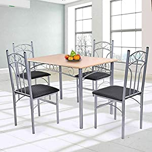 Stark-Item-5PCS-Dining-Set-Table-and-4-Chairs-Modern-Home-Kitchen-Furniture