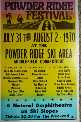 Powder Ridge Music Festival Concert Poster w/ Fleetwood Mac