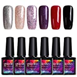 Modelones Soak Off UV 6pcs Gel Nail Polish Starter Kit,Gel Polish Colors