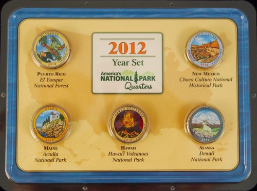 2012 National Park Quarters Colorized Year Set