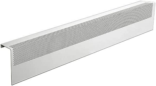 Baseboarders Basic Series Galvanized Steel Easy Slip-On Baseboard Heater Cover in White (3 ft, Cover, No Accessory)